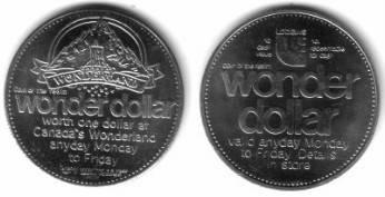 1 $ Kanada KN Ohne Zuordnung,Wonderland, Wonder Dollar /32 MM vz-unc