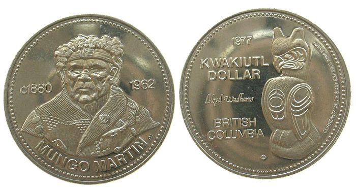 1 $ 1977 Kanada KN British Columbia, Mungo Martin /33 MM vz-unc