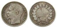 Frankreich 1 Franc Ag Mzz: A, Louis Napoleon