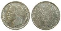 Frankreich 1 Franc Ag Napoleon III, BB (Strasbourg), Gad.463