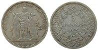 Frankreich 5 Francs Ag Herkules, A (Paris), kleine Randstöße