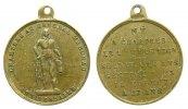 Frankreich tragbare Medaille Messing Marcheau Franois-Sverin (1769-1796) französischer General, Statue mit Sä