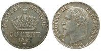 Frankreich 50 Centimes Ag Napoleon III,Mzz: BB (Strasbourg)