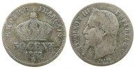 Frankreich 50 Centimes Ag Napoleon III, A (Paris)