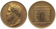 Frankreich Medaille Bronze vergoldet Louis Philippe I (1830-1848) - Arc de l'Etuile, auf die Enthüll