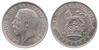 Großbritannien 6 Pence Ag Georg V