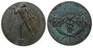 Frankreich Medaille Bronze Kreditbank für Industrie und Handel, Fortuna mit Füllhorn auf geflügeltem