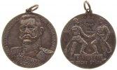 erster Weltkrieg tragbare Medaille -- Hindenburg von - Generalfeldmarschall, Einigkeit macht stark, Büste von vorn