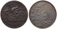Frankreich Preismedaille Silber Radrennen, v. A. Lavée, ca. 50,6 MM, ca. 63.16 Gramm, Randpunze: Füllhorn