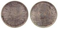 Ägypten 2 Piaster Ag Fuad I (1922-52), leicht fleckig