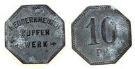 Frankfurt 10 Pfennig Zink Heddernheimer Kupferwerk - Frankfurt, ca. 21,3 MM, sechseckig