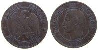 Frankreich 10 Centimes Br Napoleon III, K (Bordeaux), Blatt senkrecht