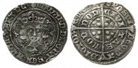 Großbritannien 1 Groat Ag Edward IV (1461-83), light coinage (1464-70), London, Quatrefoils at neck, tr