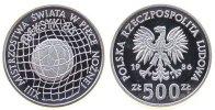 Polen 500 Zlotych Ag Fußball-WM Mexiko 1986