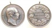 Schützen tragbare Medaille Silber Friedrich August III. (1904-1918) Sachsen - Dem besten Schützen, Büste na