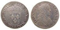 Frankreich 1/2 Ecu a la meche longue Ag Louis XIV (1643-1715), H (La Rochelle), Dup.1470, 13.61 Gramm