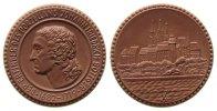 Porzellan Medaille Porzellan Böttger Johannes Friedrich (1682-1719) - Erfinder des Porzellans, Büst