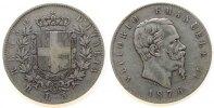Italien 5 Lire Ag Emanuel II, R (Rom)