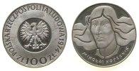 Polen 100 Zlotych Ag Kopernik, etwas fleckig, Parch. 269b