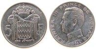 Monaco 5 Francs Ag Rainer III