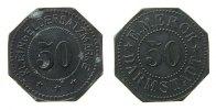 Jetons 50 Kleingeldersatzmarke Zink Merck E. - Darmstadt, ca. 24,5 MM, etwas fleckig