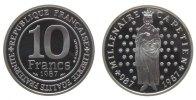 Frankreich 10 Francs Ag Hugo Capet