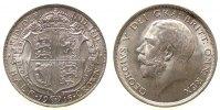 Großbritannien 1/2 Crown Ag Georg V, Seaby 4011