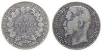 Frankreich 5 Francs Ag Louis Napoleon, A (Paris)
