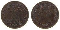 Frankreich 5 Centimes Br Napoleon III, MA (Marseille), kleine Randfehler
