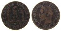 Frankreich 5 Centimes Br Napoleon III, W (Lille)