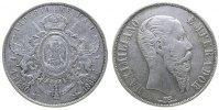 Mexiko 1 Peso Ag Maximilian, Mo (Mexico City), Randstöße