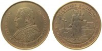Vatikan Medaille Bronze Pius IX (1846-78) - auf den Wallfahrtsort Pibrac, Büste nach links / weib