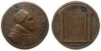 Vatikan Medaille Bronze Innozenz X (1644-1655) - St. Peter, A IIII, Brustbild nach rechts /  Mitt