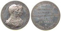 vor 1914 Medaille Silber Wilhelm II (1888-1918), Brandenburg-Preußen, Geschenkmedaille zu einem Eh