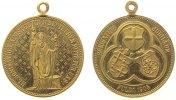 Städte tragbare Medaille Bronze vergoldet Fulda - auf den 1100. Todestag des Hl. Bonifatius, Bonifatius m