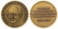 Personen Medaille Bronze Fleischmann Georg (1937-1974) - auf seinen Tod, Präsident der Vereinigung