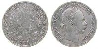 Österreich 1 Gulden Ag Franz Joseph I