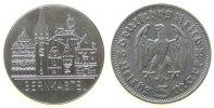 Städte Medaille Silber Bernkastel, Stadtansicht (Gravur) / 5 Reichsmark 1935, ca. 29 MM, ca. 12.