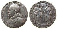 Vatikan Medaille Silber Clemens X (1670 - 1676) - auf den Beistand der Apostel, Brustbild nach li