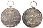 Schützen tragbare Medaille Silber Dortmund - 17. Westphälisches Bundesschießen, Schütze mit Flinte und Poka