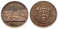 Städte Medaille Bronze versilbert Herborn (Hessen) - auf die 650 Jahrfeier, Stadtansicht / Wappe