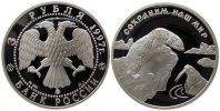 Rußland 3 Rubel Ag Eisbär + Walross