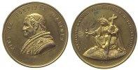 Vatikan Medaille Zinn vergoldet Pius IX (1846-78) - auf den Beginn des 1. Vatikanischen Konzils,