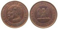 Frankreich Spottmedaille Bronze Napoleon III- satyrische Medaille, Napoleon mit Pickelhaube und Halseisen