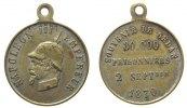 Frankreich tragbare Spottmedaille Bronze versilbert Napoleon III - satyrische Medaille, Napoleon mit Pickelhaube /