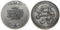 Tiere Medaille versilbert Tierzucht - für besondere Leistungen, Hessen, ca. 45 MM, v. Wiedman
