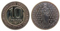 Frankreich 10 Francs Ag Hugo Capet, Patina