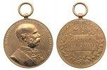 Franz Josef I (1848-1916) tragbare Medaille Bronze Franz Josef I (1848-1916) - auf sein 50. Regierungsjubiläum, Brustbild na