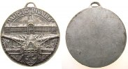 Frankreich tragbare Medaille Weißmetall Paris - Invalidendom, Invalidendom (Ansicht von der Esplanade) über K
