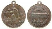 Norwegen tragbare Medaille Bronze Verfassungstag, Mutter mit Kind / Datum über Wappen, v. Throndsen, ca. 27